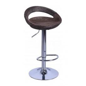 Барний стілець AMF Санті 465х400х765-970 мм пластик/ротанг