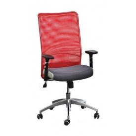 Крісло AMF Аеро Люкс сітка сіра Неаполь N-50/сітка червона 65x65x106 см