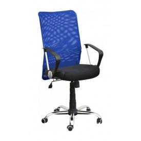 Крісло AMF Аеро HB сітка чорна Неаполь N-20/сітка синя 64x75x104 см