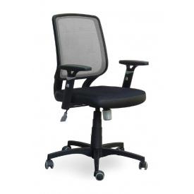 Крісло AMF Онлайн сітка чорна/сітка сіра 65x65x93 см