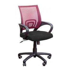 Кресло AMF Веб сетка черная/сетка красная 65x65x90 см
