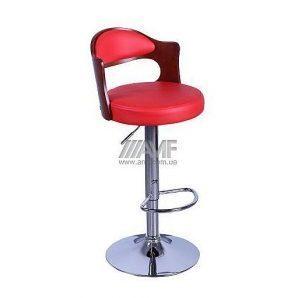Барный стул AMF Париж к/з красный (FT-750) 465х430х865-1070 мм