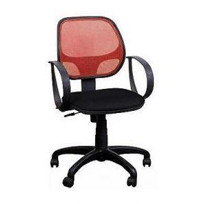 Кресло AMF Бит АМФ-8 сетка черная/cетка красная 64x64x90 см
