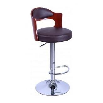 Барный стул AMF Париж к/з коричневый (FT-750) 465х430х865-1070 мм