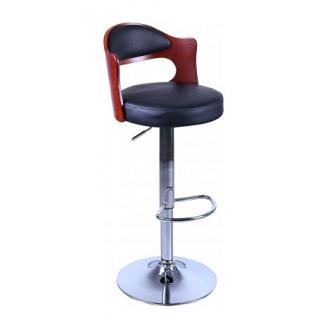 Барный стул AMF Париж к/з черный (FT-750) 465х430х865-1070 мм