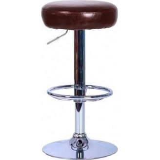 Барный стул AMF Рондо Лаки шоколад 385х385х620-860 мм хром