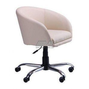 Кресло AMF Дамкар Неаполь N-17 650х530х660-800 мм хром на роликах