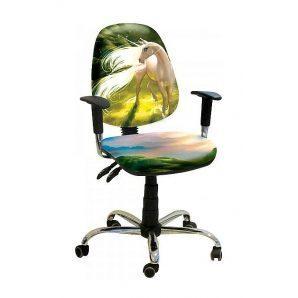 Кресло детское AMF Бридж Единорог 650х650х1090 мм хром