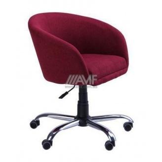 Кресло AMF Дамкар Сидней N-06 650х530х660-800 мм хром на роликах