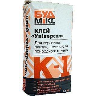 Клей універсальний Будмікс К-1 Універсал 25 кг