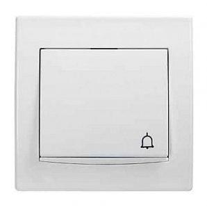 Кнопка Schneider Electric Anya AYA1700221 Звонок с подсветкой 81,5х81,5х42 мм белый