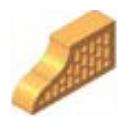 Фасонный клинкерный кирпич Керамейя КлинКЕРАМ Классика ЯНТАРЬ Ф14 36% 250x120x65 мм