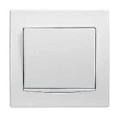 Кнопка Schneider Electric Anya AYA1600221 с подсветкой 81,5х81,5х42 мм белый