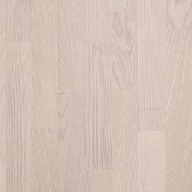 Паркетная доска BEFAG трехполосная Ясень Натур Kiev 2200x192x14 мм жемчужно-белый лак