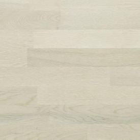 Паркетная доска BEFAG трехполосная Дуб Robust 2200x192x14 мм жемчужно-белый лак