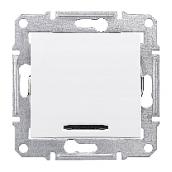 Выключатель двухполюсный Schneider Electric Sedna SDN0201221 красный индикатор 16 А белый