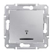 Выключатель кнопочный Schneider Electric Sedna SDN1600460 Звонок с подсветкой алюминий