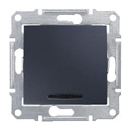 Выключатель двухполюсный Schneider Electric Sedna SDN0201270 красный индикатор 16 А графит