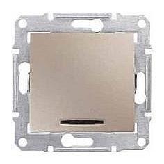 Выключатель двухполюсный Schneider Electric Sedna SDN0201268 красный индикатор 16 А титан