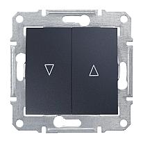 Выключатель для жалюзи Schneider Electric Sedna SDN1300170 с электронной блокировкой графит