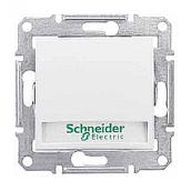 Выключатель кнопочный Schneider Electric Sedna SDN1600321 с надписью и подсветкой белый