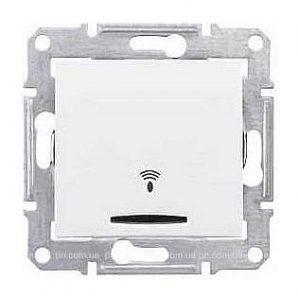 Выключатель кнопочный Schneider Electric Sedna SDN1600421 Звонок с подсветкой белый