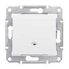 Выключатель одноклавишный Schneider Electric Sedna SDN0900121 Свет 71х71х42 мм белый