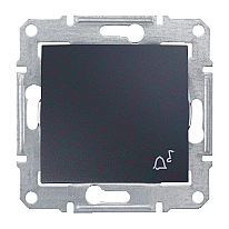 Выключатель одноклавишный Schneider Electric Sedna SDN0800170 Звонок 71х71х42 мм графит
