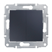 Переключатель двухклавишный Schneider Electric Sedna SDN0600170 71х71х42 мм графит