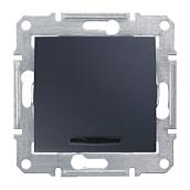 Переключатель Schneider Electric Sedna SDN1500170 с синей подсветкой 71х71х42 мм графит