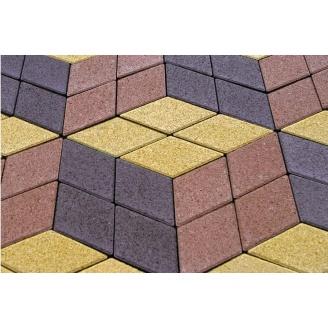 Тротуарная плитка Ромб 4,5 см