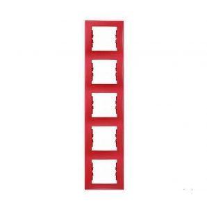 Рамка пятиместная Schneider Electric Sedna SDN5801541 вертикальная 366х80х7 мм красный