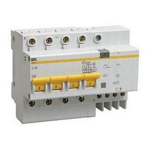 Дифференциальный автомат IEK АД14 4Р 10 А 30 мA