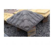 Крышка на столб Черепица 390х390х115 мм серая