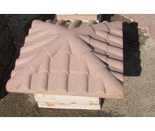 Кришка на стовп Черепиця 450х450х130 мм коричневе