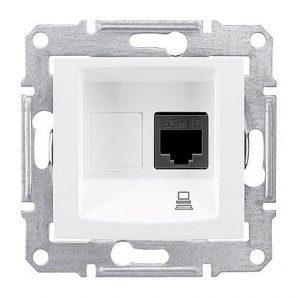 Розетка компьютерная Schneider Electric Sedna SDN4300121 RJ45 кат.5е UTP белый