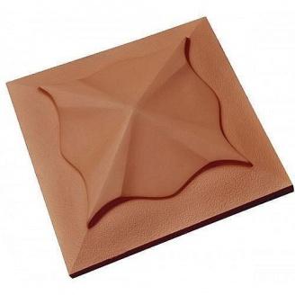 Крышка на забор Медуза 450х450х120 мм коричневая
