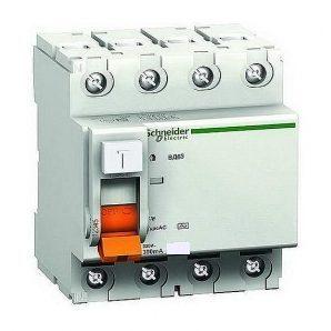 Дифференциальный выключатель УЗО Schneider Electric ВД63 4п 63A 300mA