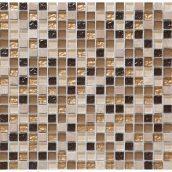 Мозаика мрамор стекло VIVACER 1,5х1,5 DAF4 30х30 cм