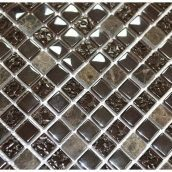 Мозаика мрамор стекло VIVACER 1,5х1,5 DAF12 30х30 cм