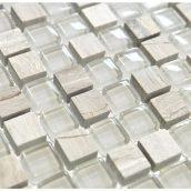 Мозаика мрамор стекло VIVACER 2х2 DAF14 30х30 cм