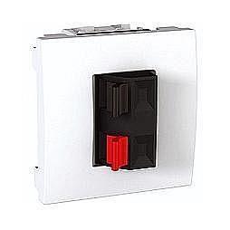 Аудиорозетка двухмодульная Unica Schneider Electric MGU348618 белая