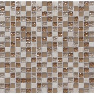 Мозаика мрамор стекло VIVACER 1,5х1,5 CS06, 30х30 cм