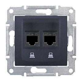 Розетка компьютерная Schneider Electric Sedna SDN4800170 RJ45 кат.6е UTP графит
