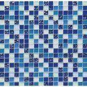 Мозаика мрамор стекло VIVACER HCB02 1,5х1,5 cм 30х30 cм