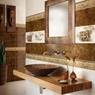 Бордюр Inter Cerama SAFARI 11x40 см коричневый