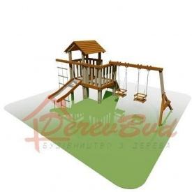 Деревянная детская площадка Мини 1 2-6 лет 490х300х233 см