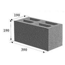Шлакоблок строительный 188*188*390 мм