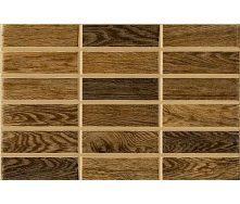 Керамическая плитка Inter Cerama MADERA для стен 23x35 см коричневый темный