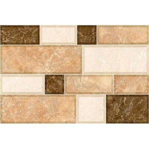 Керамическая плитка Inter Cerama GRANI для стен 23x35 см коричневый светлый